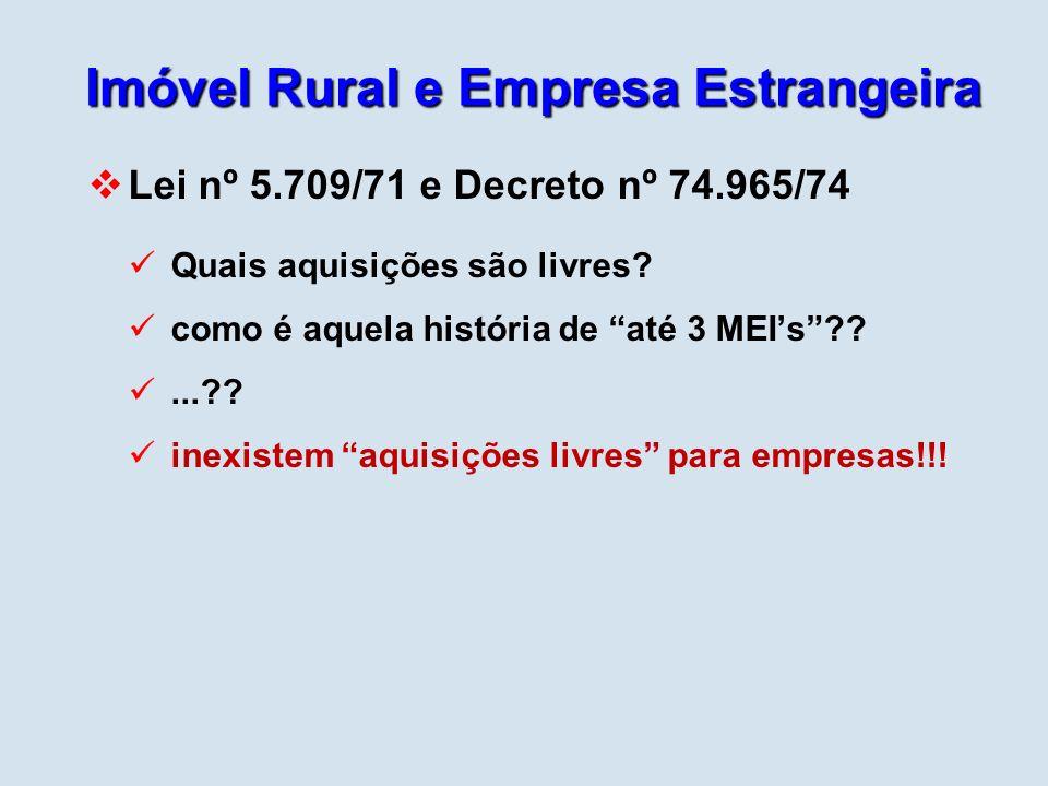 Imóvel Rural e Empresa Estrangeira