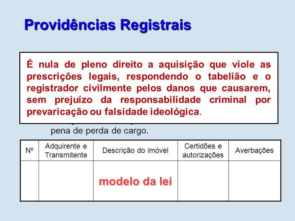Providências Registrais