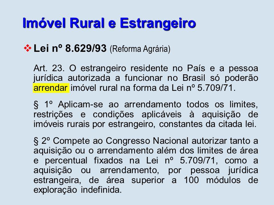 Imóvel Rural e Estrangeiro