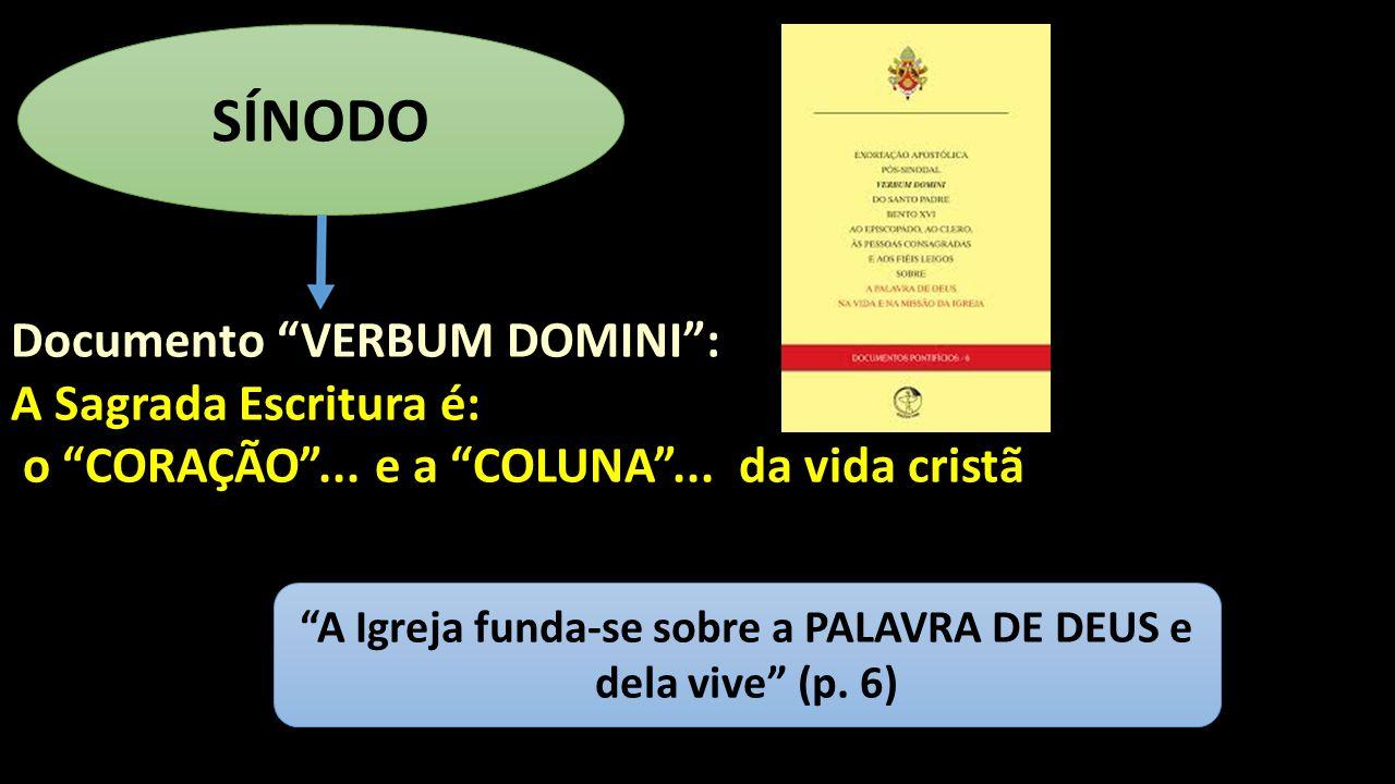 A Igreja funda-se sobre a PALAVRA DE DEUS e dela vive (p. 6)