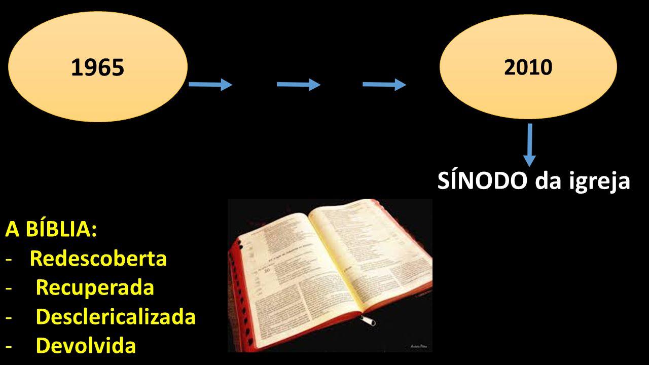 1965 SÍNODO da igreja 2010 A BÍBLIA: Redescoberta Recuperada