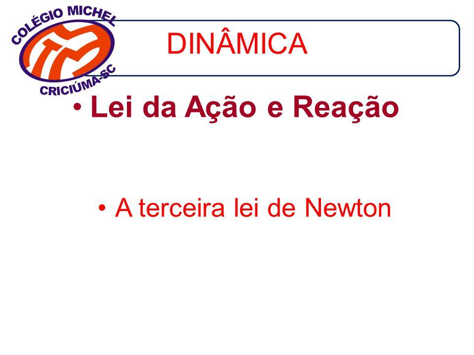 DINÂMICA Lei da Ação e Reação A terceira lei de Newton