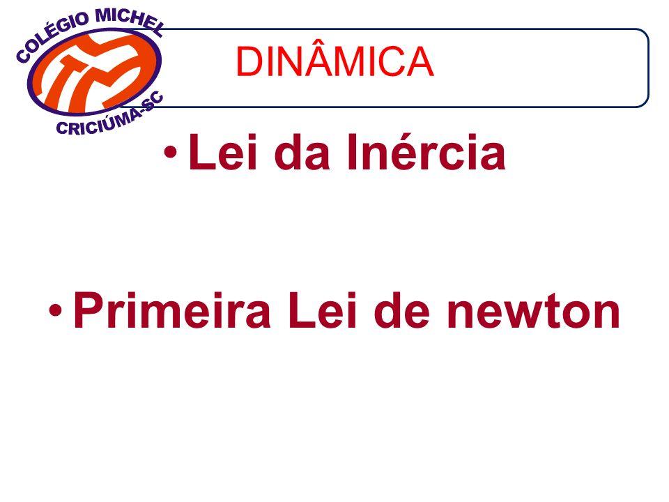 Lei da Inércia Primeira Lei de newton