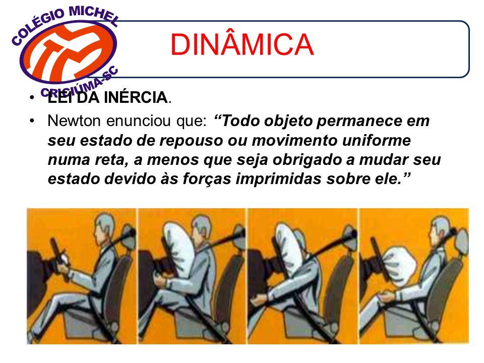 DINÂMICA LEI DA INÉRCIA.