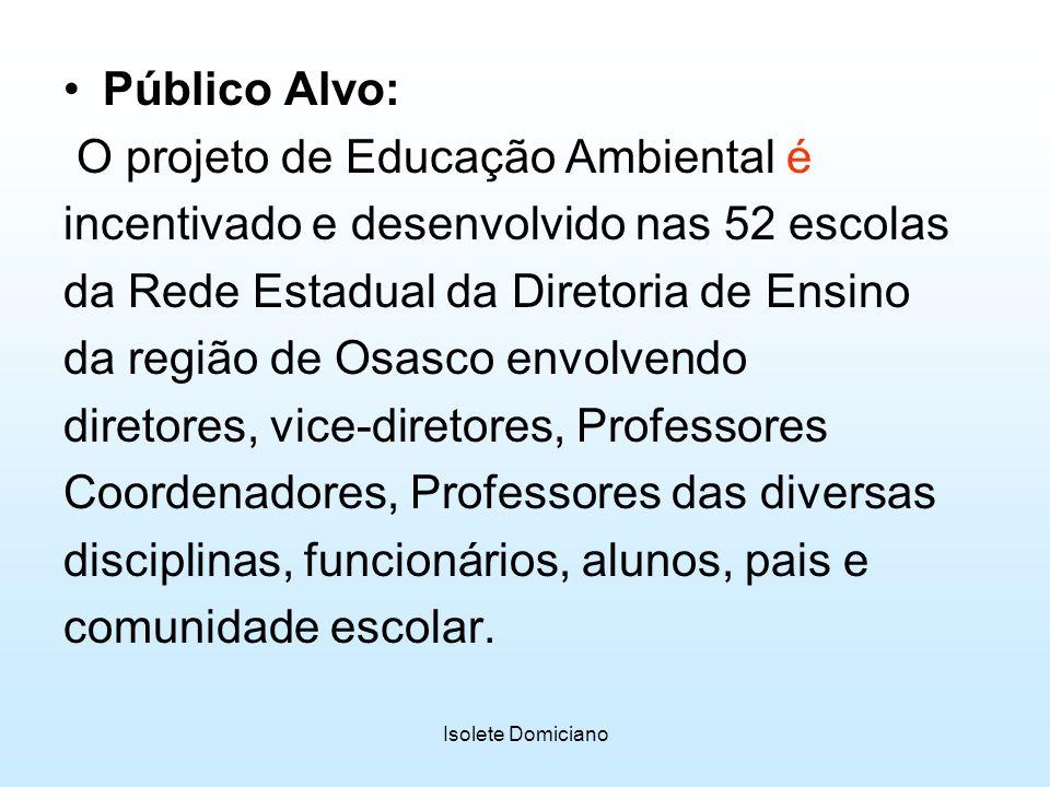 O projeto de Educação Ambiental é