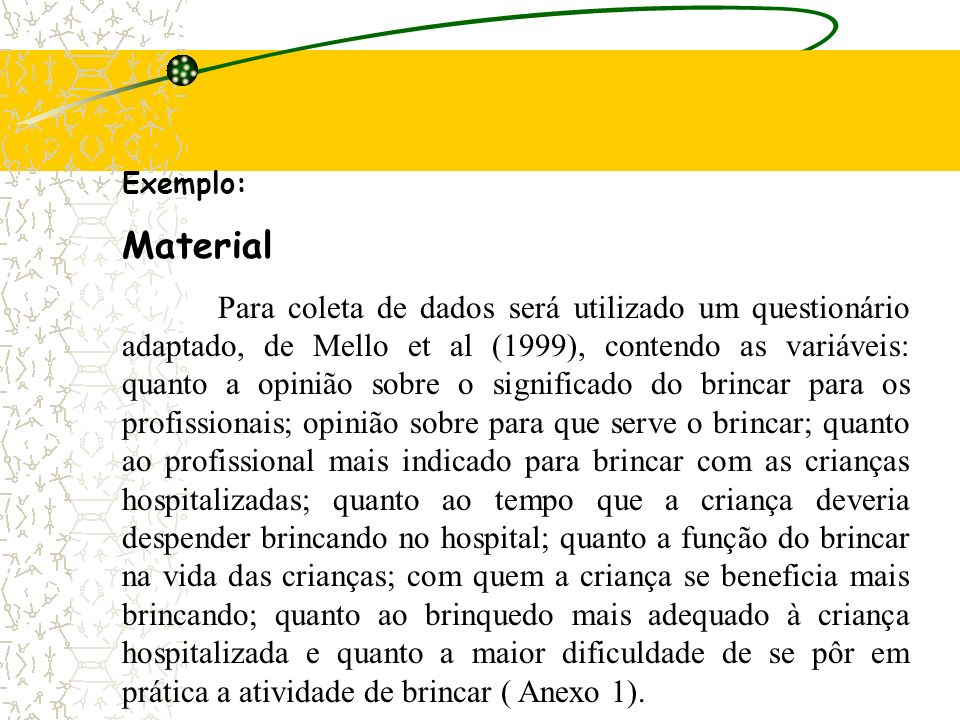 Exemplo: Material.