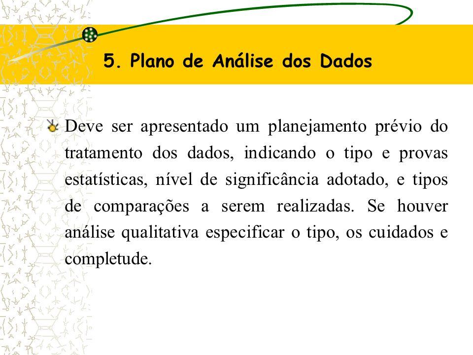 5. Plano de Análise dos Dados
