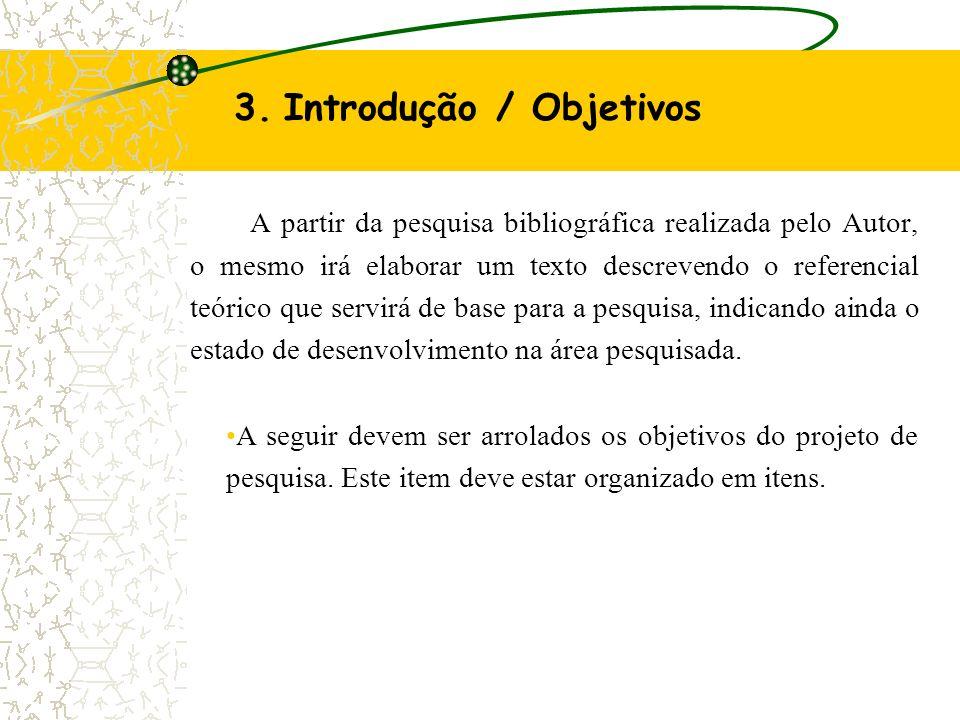 3. Introdução / Objetivos