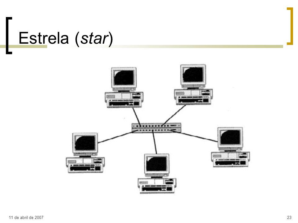Estrela (star) 11 de abril de 2007