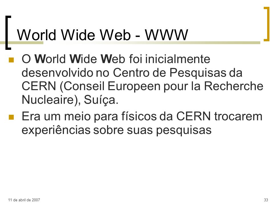 World Wide Web - WWW