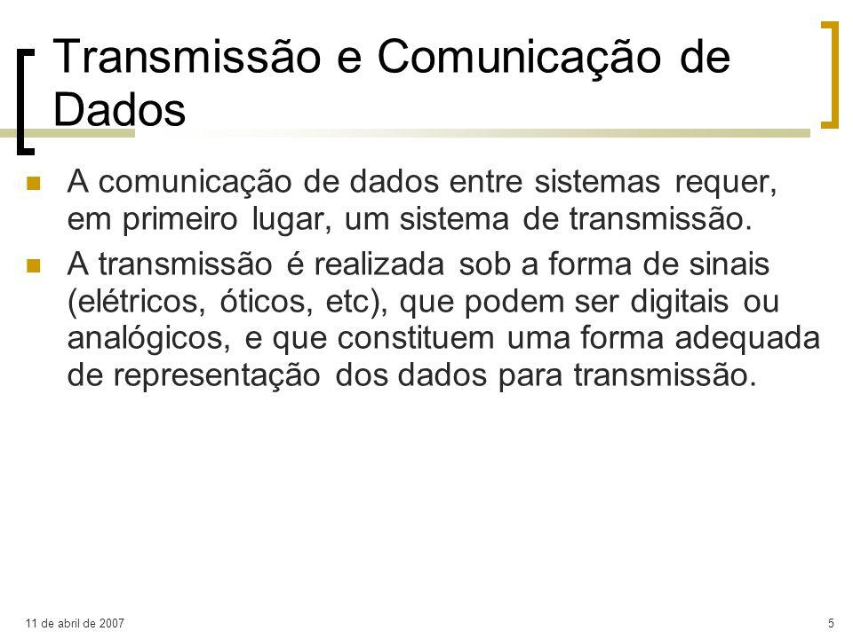 Transmissão e Comunicação de Dados