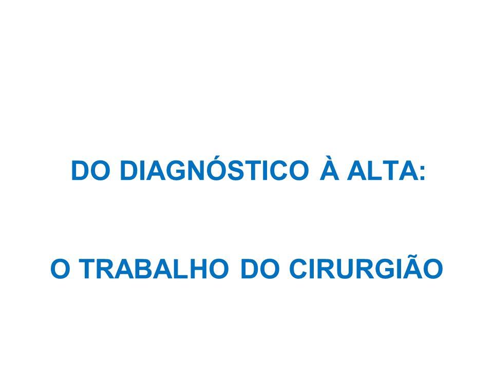 O TRABALHO DO CIRURGIÃO