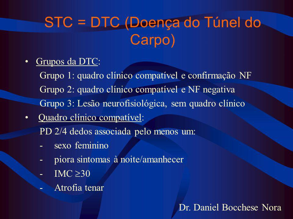 STC = DTC (Doença do Túnel do Carpo)