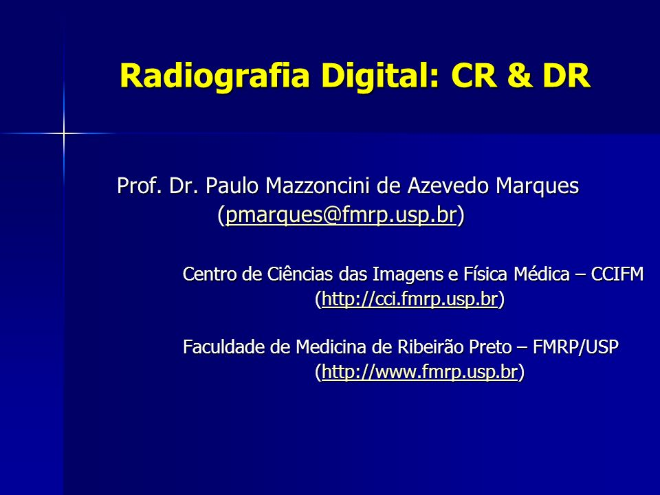 Radiografia Digital: CR & DR