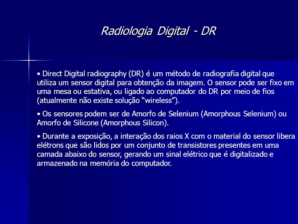 Radiologia Digital - DR