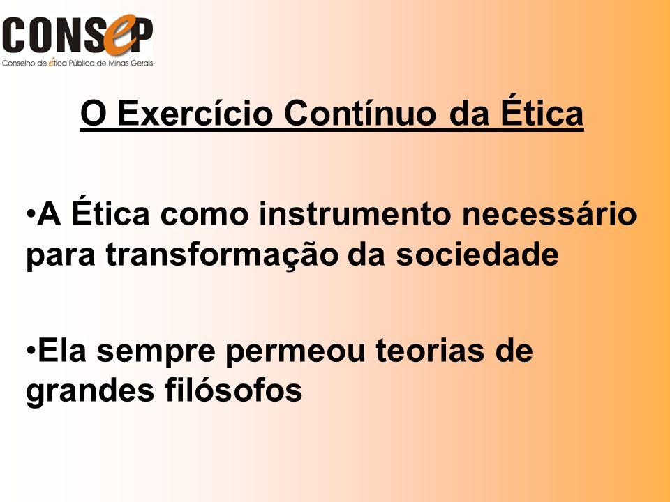 O Exercício Contínuo da Ética