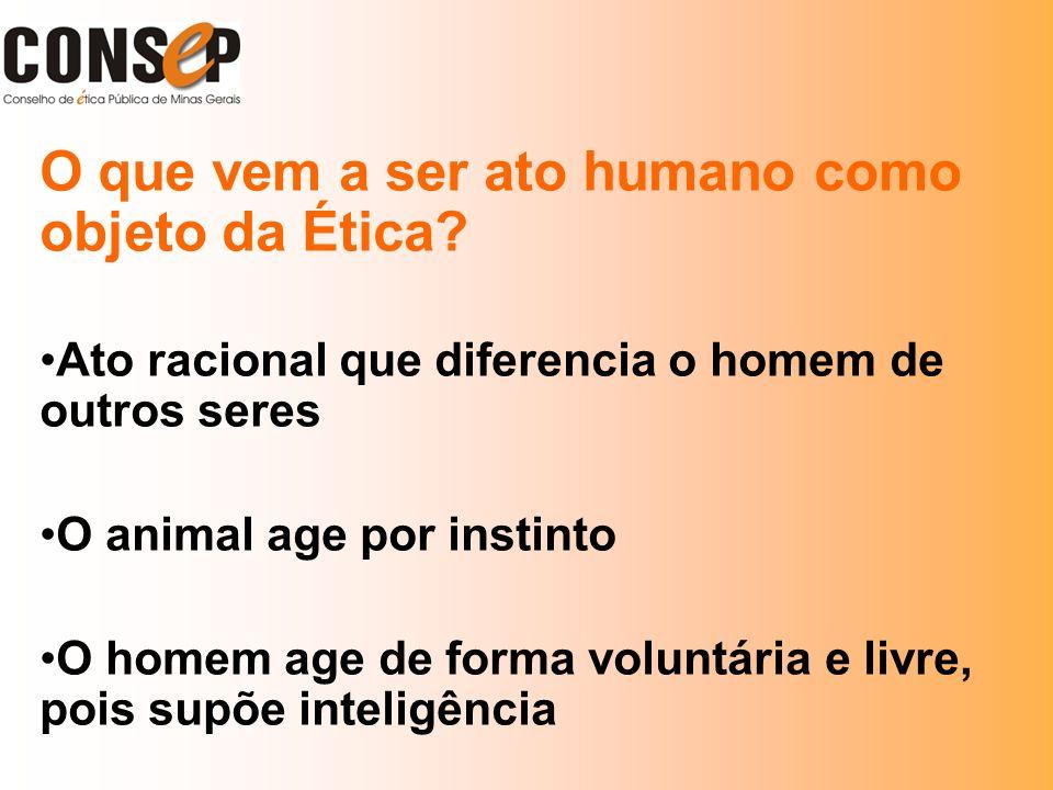 O que vem a ser ato humano como objeto da Ética