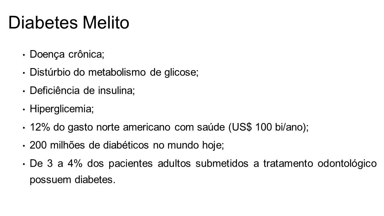 Diabetes Melito Doença crônica; Distúrbio do metabolismo de glicose;