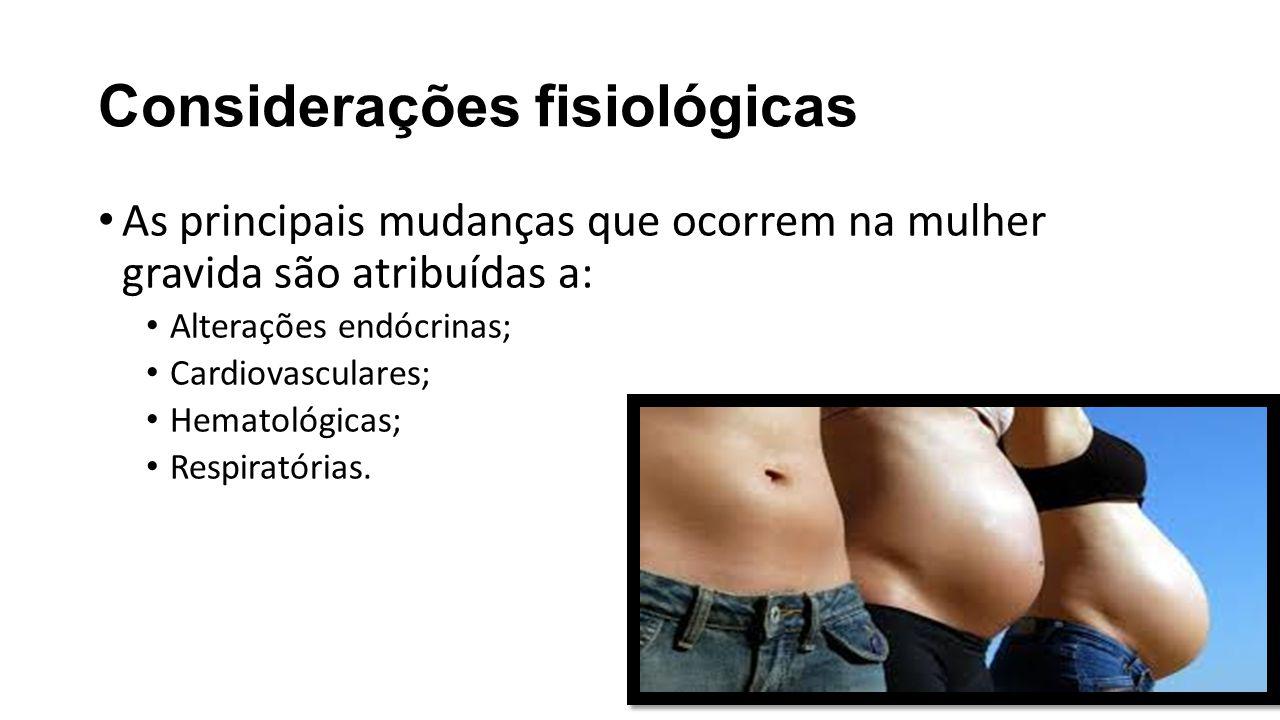 Considerações fisiológicas