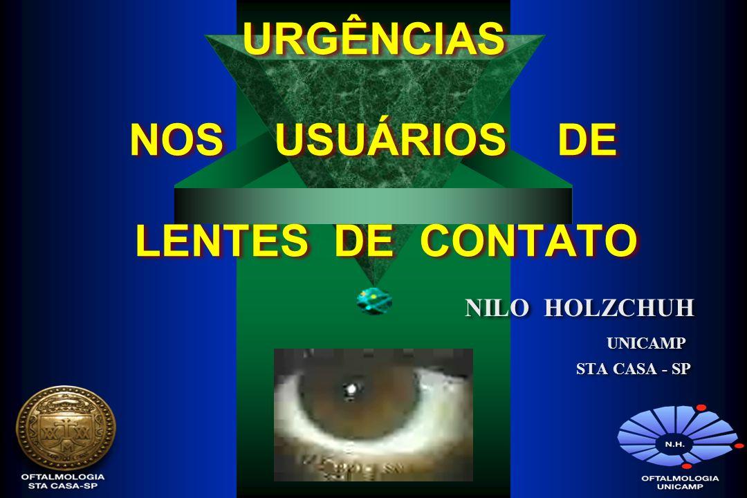 URGÊNCIAS NOS USUÁRIOS DE LENTES DE CONTATO