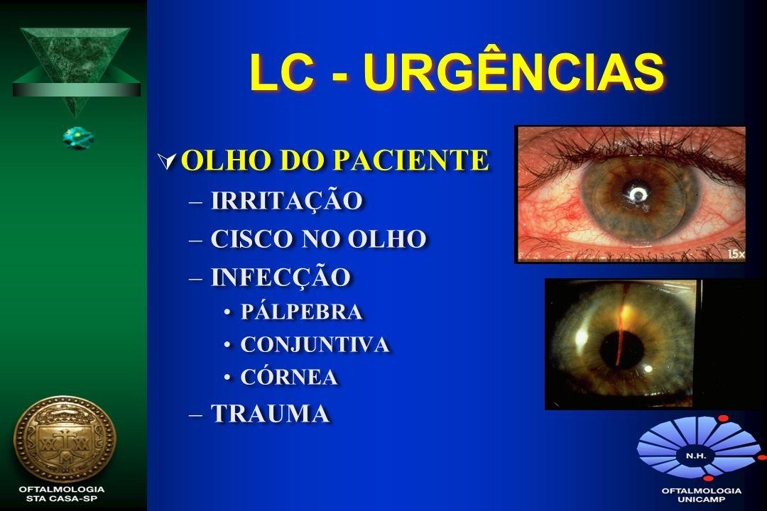 LC - URGÊNCIAS OLHO DO PACIENTE IRRITAÇÃO CISCO NO OLHO INFECÇÃO