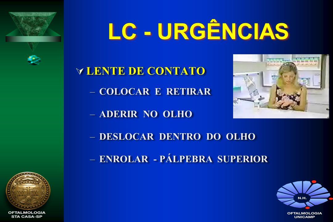 LC - URGÊNCIAS LENTE DE CONTATO COLOCAR E RETIRAR ADERIR NO OLHO