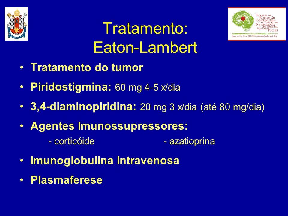 Tratamento: Eaton-Lambert