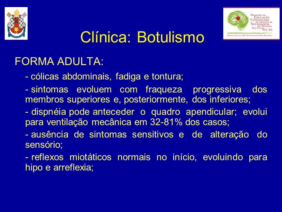 Clínica: Botulismo FORMA ADULTA: