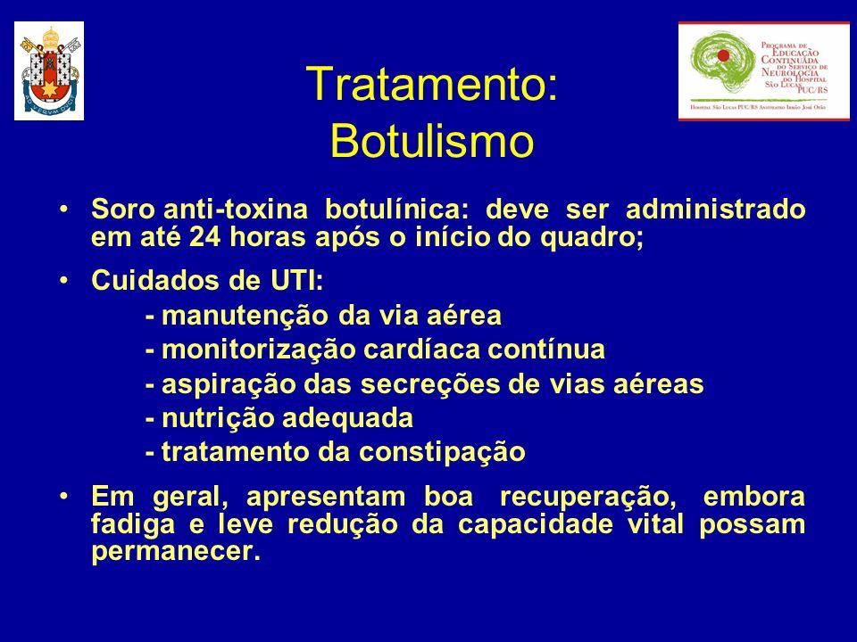 Tratamento: Botulismo