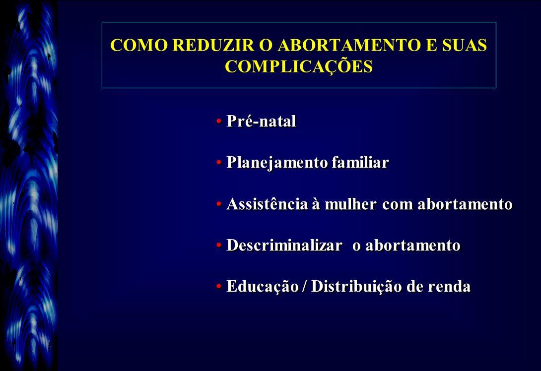 COMO REDUZIR O ABORTAMENTO E SUAS COMPLICAÇÕES