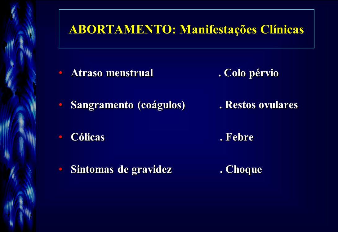 ABORTAMENTO: Manifestações Clínicas