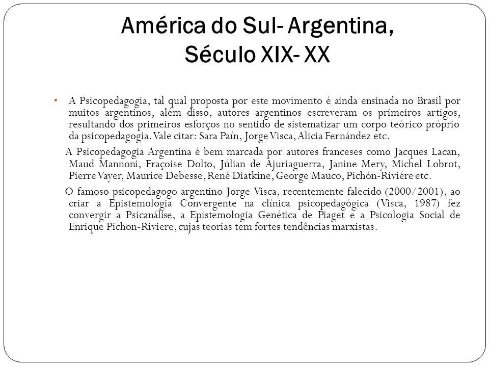 América do Sul- Argentina, Século XIX- XX