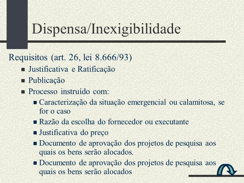 Dispensa/Inexigibilidade