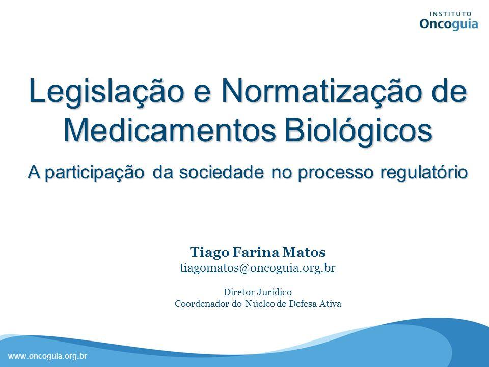 Legislação e Normatização de Medicamentos Biológicos