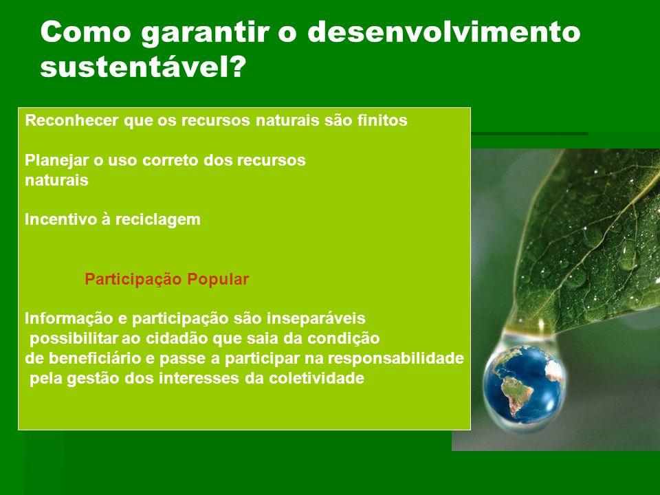 Como garantir o desenvolvimento sustentável