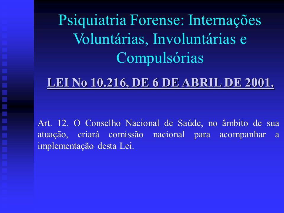 Psiquiatria Forense: Internações Voluntárias, Involuntárias e Compulsórias