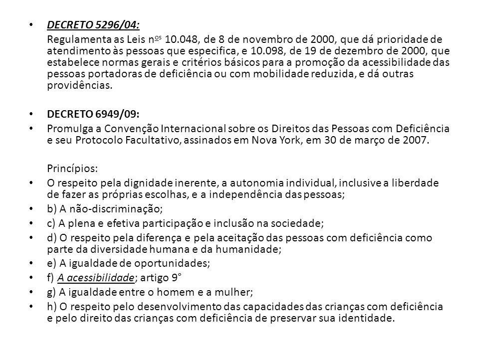 DECRETO 5296/04: