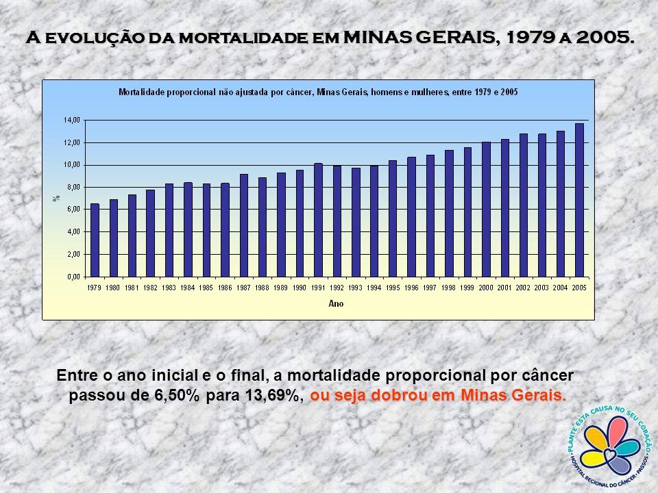 A evolução da mortalidade em MINAS GERAIS, 1979 a 2005.