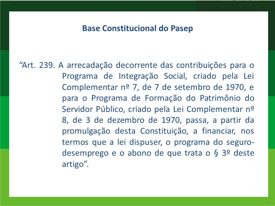 Base Constitucional do Pasep