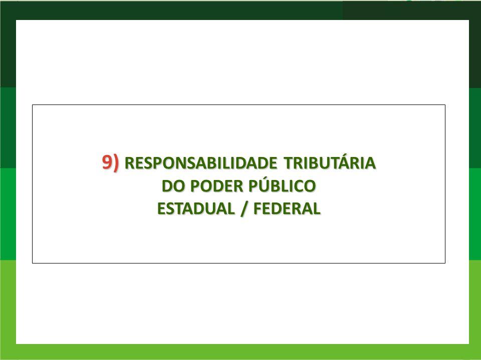 9) RESPONSABILIDADE TRIBUTÁRIA DO PODER PÚBLICO ESTADUAL / FEDERAL