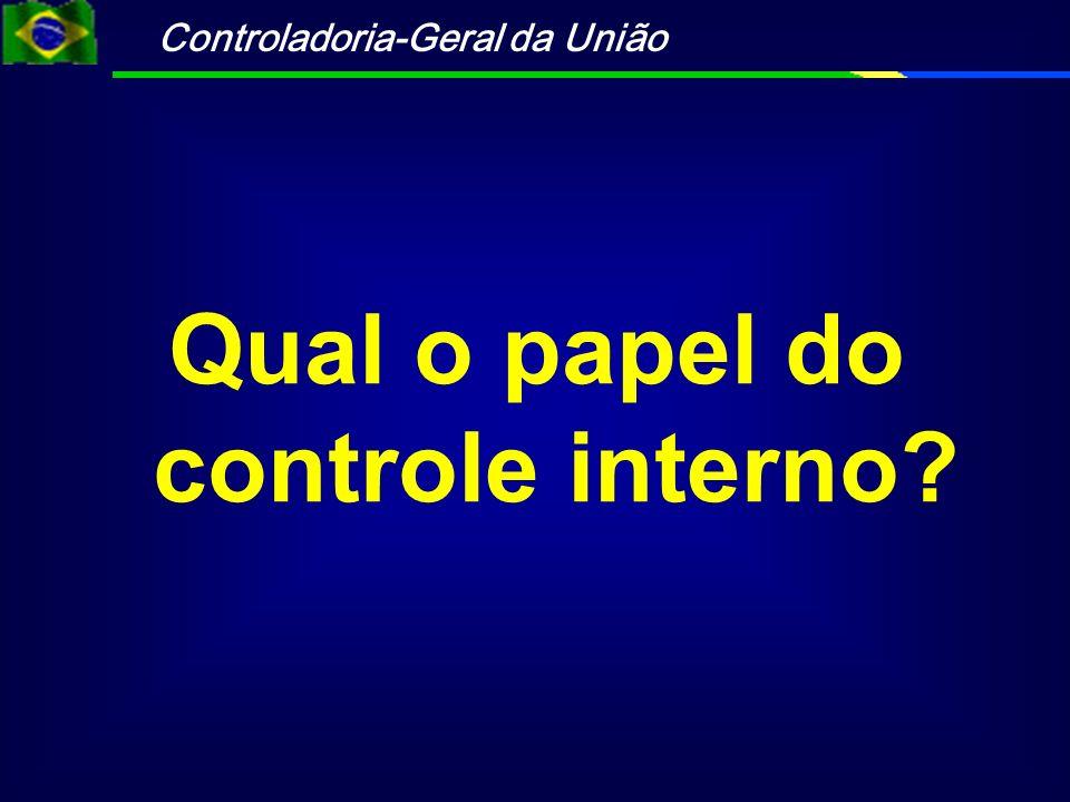 Qual o papel do controle interno