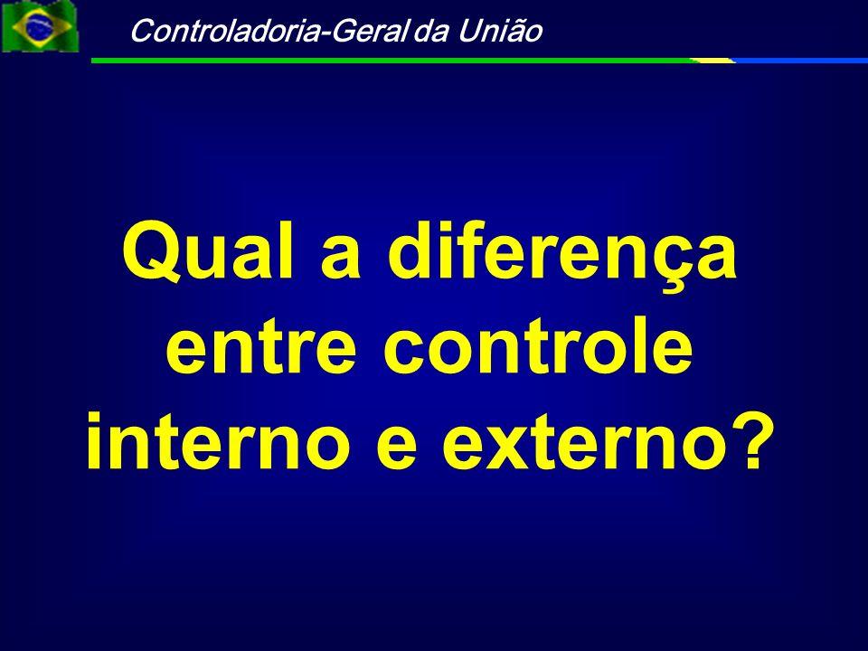 Qual a diferença entre controle interno e externo