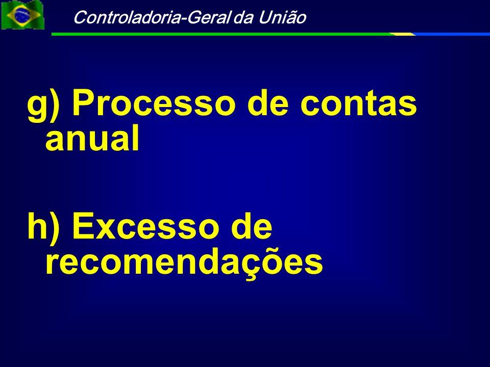 g) Processo de contas anual