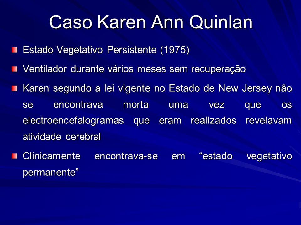 Caso Karen Ann Quinlan Estado Vegetativo Persistente (1975)