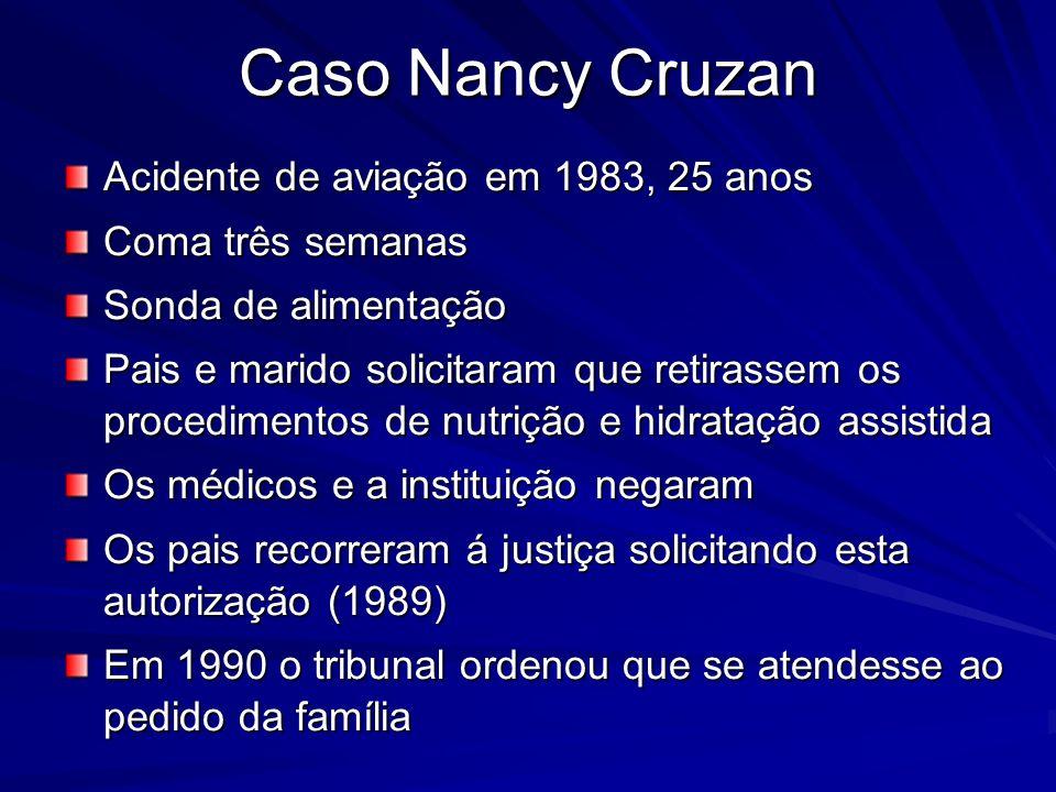 Caso Nancy Cruzan Acidente de aviação em 1983, 25 anos
