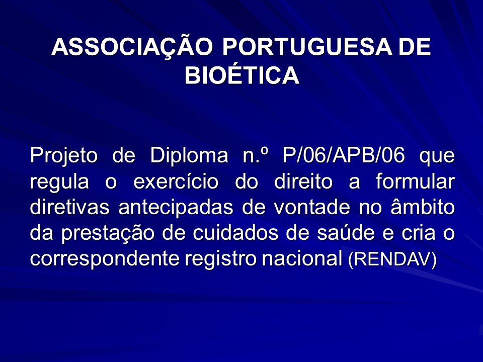 ASSOCIAÇÃO PORTUGUESA DE BIOÉTICA
