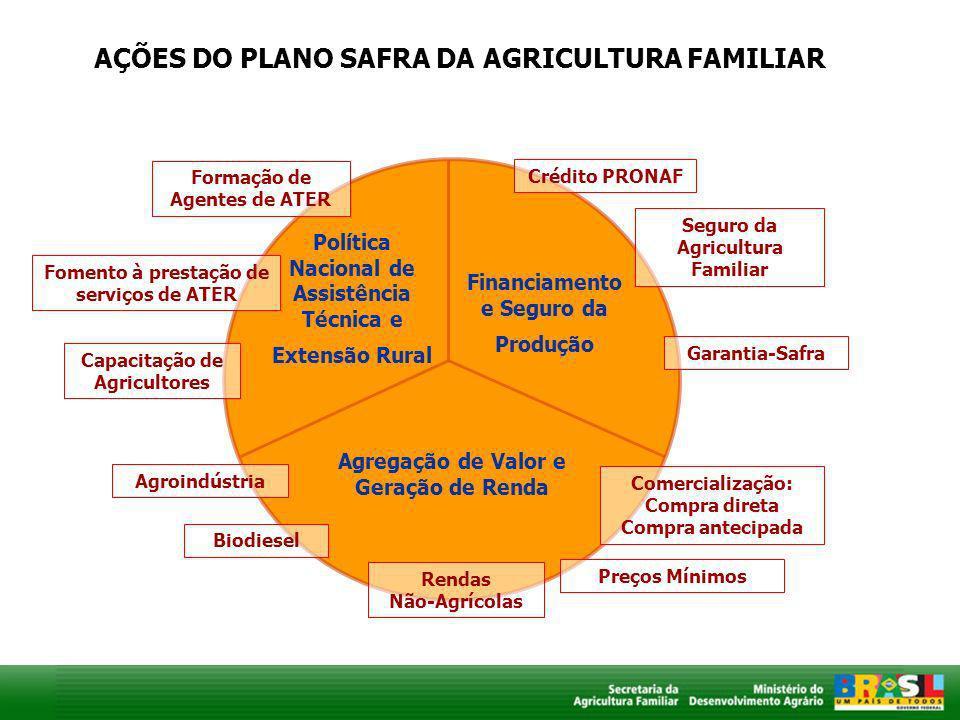 AÇÕES DO PLANO SAFRA DA AGRICULTURA FAMILIAR