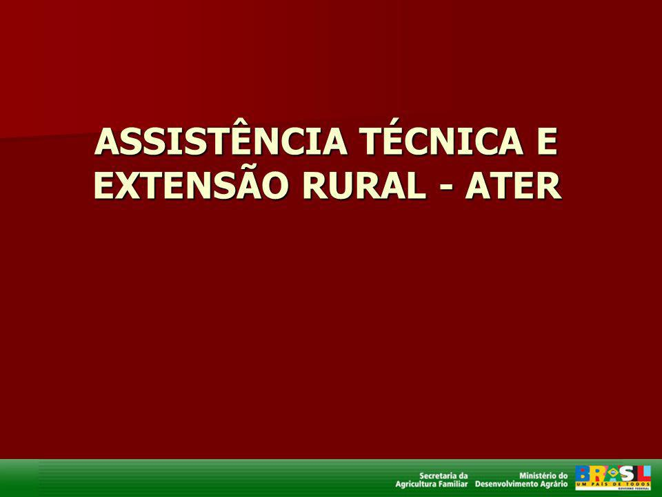 ASSISTÊNCIA TÉCNICA E EXTENSÃO RURAL - ATER