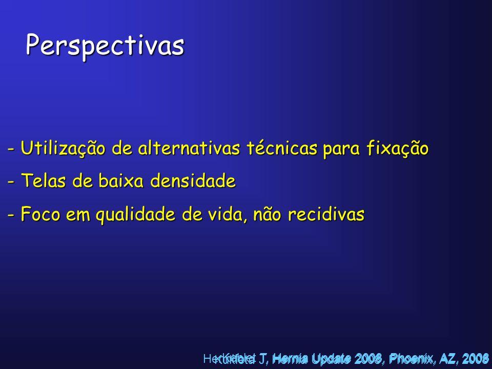 Perspectivas Utilização de alternativas técnicas para fixação