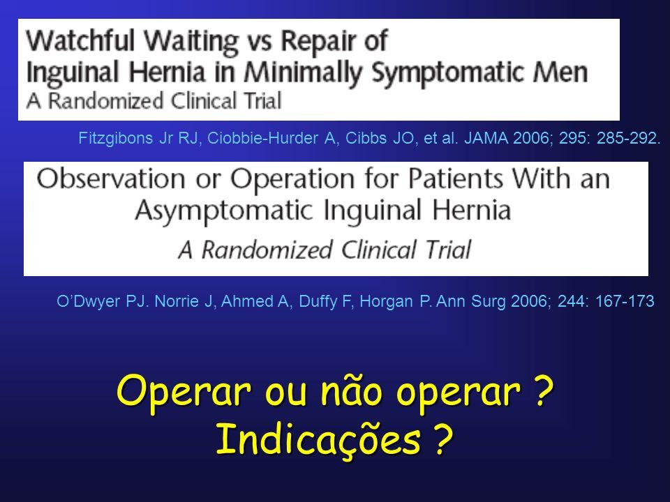 Operar ou não operar Indicações